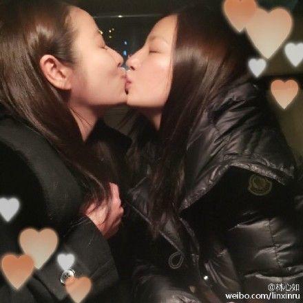 林心如赵薇亲吻