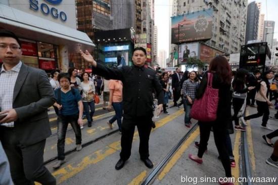 香港男子模仿金正恩走红 险被暗杀(组图)