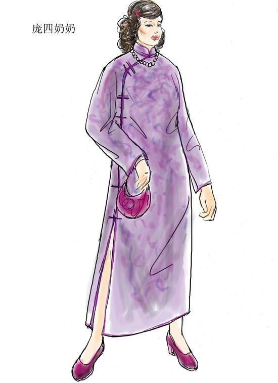 资料图片:电视剧《茶馆》服装设计图(45)图片