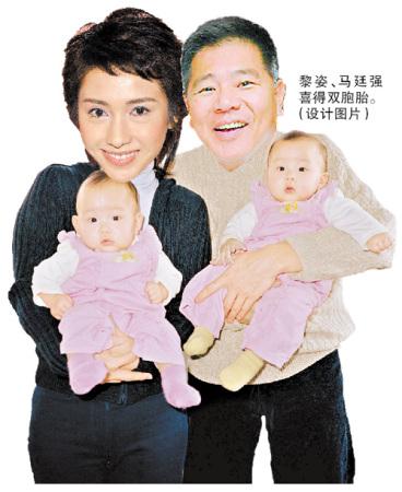 黎姿冒险高龄产双胞胎女儿产前曾经大出血
