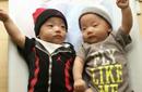 黑人范玮琪双胞胎儿子