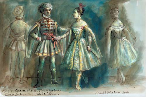 资料图片:瑞典芭蕾舞团服装设计稿(2)