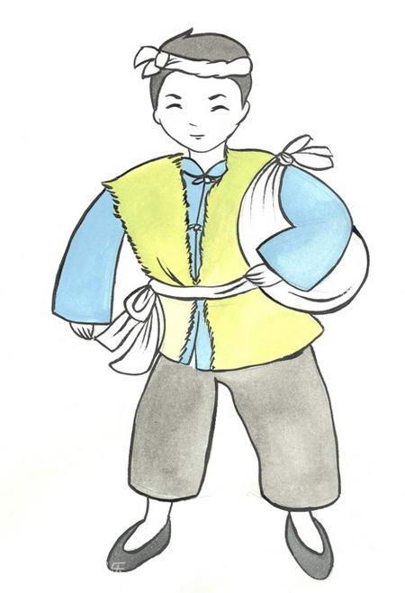 资料图片:大型山西说唱剧《解放》手绘图(1)