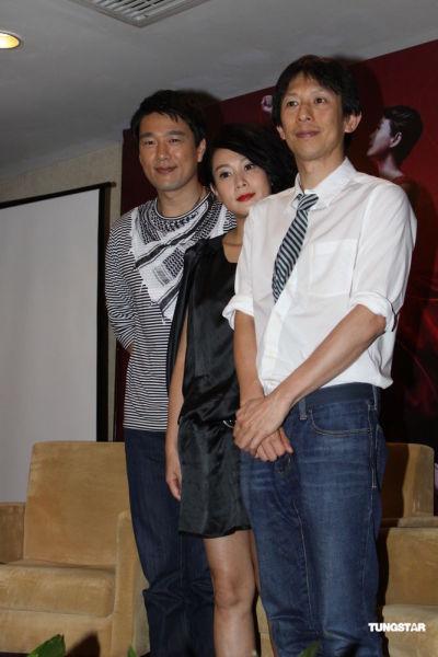 左起:王耀庆、刘若英与林奕华