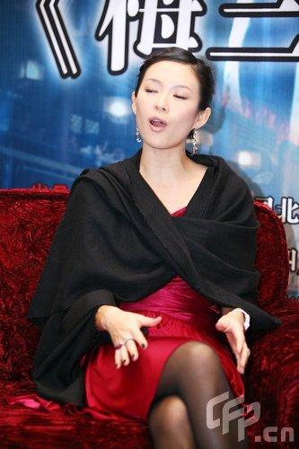 章子怡成都宣传《梅兰芳》 采访中表情雷人(图)图片