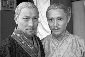 Andy Lau (left) and double