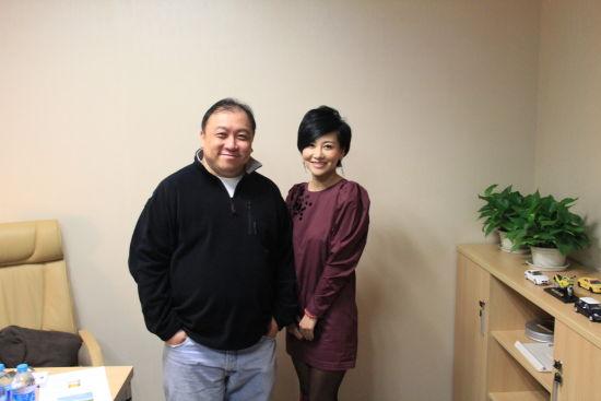王晶导演和中盟世纪传媒公司CEO宋美遐女士