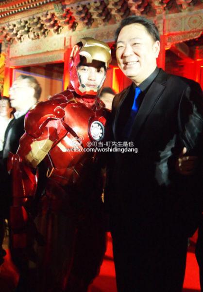 """网友""""叮当-叮先生是也""""还获邀参加了4月5日北京举办的《钢铁侠3》首映礼中国之夜"""