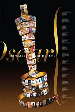奥斯卡80周年历届最佳影片纪念版海报发布(图)