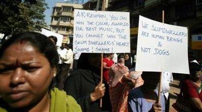 奥斯卡头号种子《贫民富翁》在印度遭抗议(图)