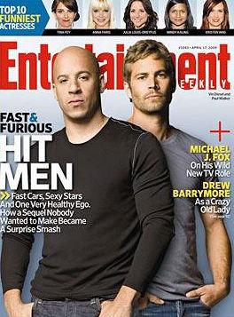 《速度与激情4》主角登《娱乐周刊》封面(图)
