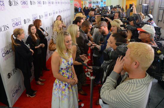 凯莉在接受媒体采访