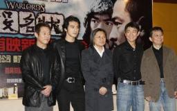 组图:《投名状》上海发布会三帅哥黑衣亮相