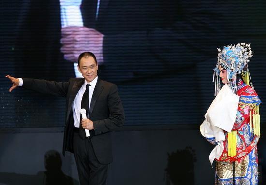 图文:《梅兰芳》首映庆典--王学圻亮出京剧身段