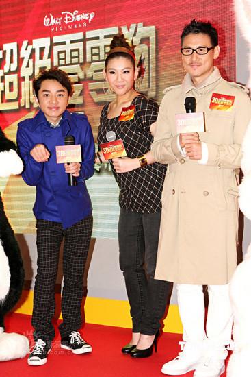 图文:《闪电狗》首映--王祖蓝(左起)郑欣宜张学友