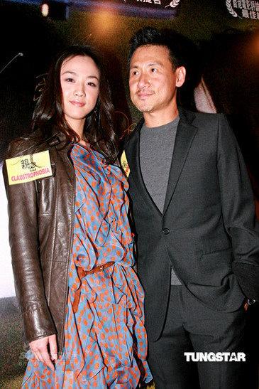 图文:《亲密》香港首映--张学友(右)汤唯