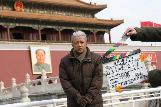 图文:电影《天安门》探班-拍摄现场