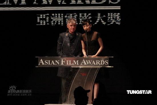 图文:亚洲电影大奖现场--杜可风与韩星李娜英