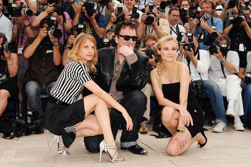图文:《混蛋》记者会-昆汀携两大美女亮相