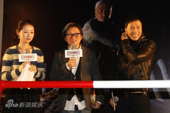 图文:《十月围城》上海宣传-主持人采访陈可辛甄子丹