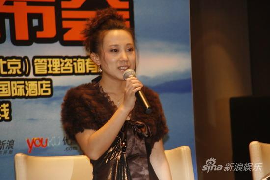 图文:《三枪》上海宣传-毛毛时尚打扮