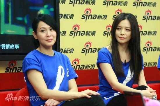 图文:《全城热恋》聊天--刘若英与徐若�u
