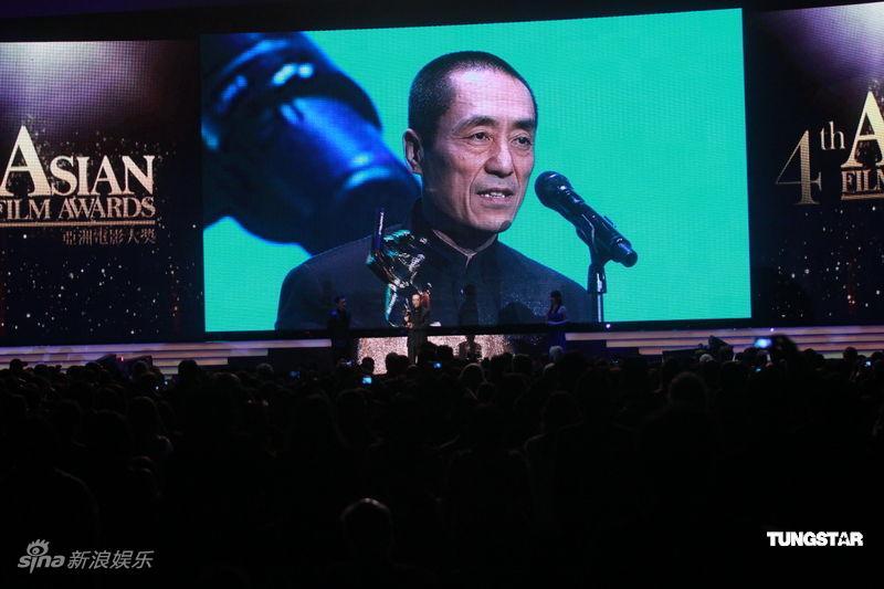 图文:亚洲电影大奖-张艺谋发表获奖感言
