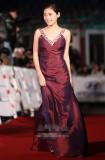 秋瓷炫紫裙亮相大钟红毯简洁造型更显优雅(图)