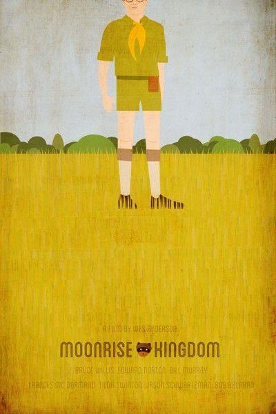 杂志近日刊登出韦斯·安德森导演的《月升王国》艺术画版海报,充满