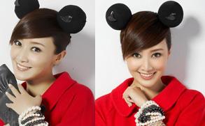 组图:赵子琪圣诞写真 米奇老鼠造型显诙谐童趣