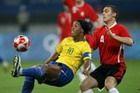 巴西国奥足球3-0比利时获铜牌