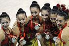 艺术体操集体全能比赛中国获银