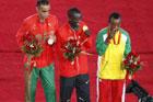 男子马拉松肯尼亚选手夺冠