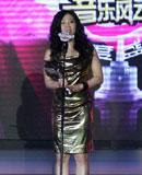 蔡健雅金色裙装