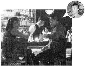 梁洛施被拍到与男性友人深夜约会(小图),该男伴貌似2006年与梁出席活动的初恋情人Simon