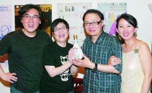 台湾一代编曲作曲大师陈志远和张小燕出席金曲奖庆功宴