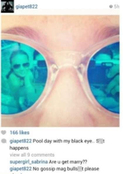乐基儿上载照片眼镜中有两人影像