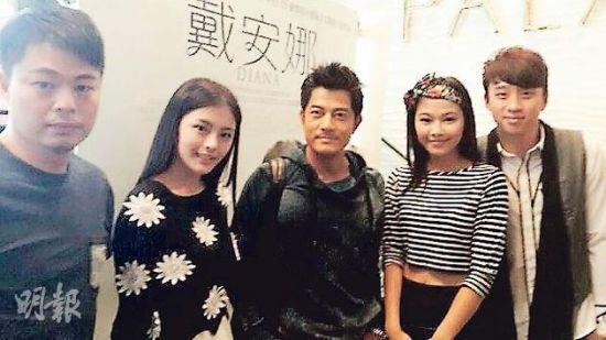 郭富城早前捧蔚雨芯(右)场看电影《微交少女》,因而认识了19岁模特儿Kabby(左)。