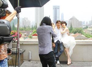 像拍电影一样拍婚纱照