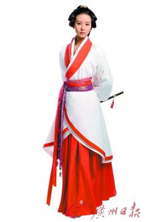 劉詩詩的漢服裝扮很美