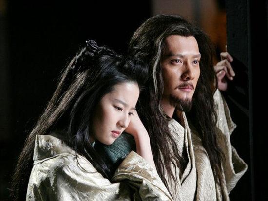 电影《鸿门宴》中刘亦菲冯绍峰扮演虞姬和项羽
