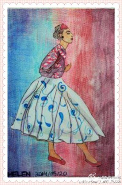 法图麦12岁生日时的画作
