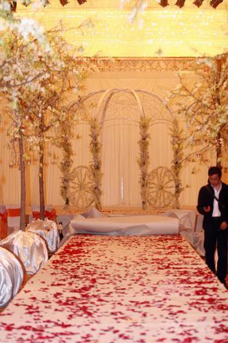 图文:佟大为关悦北京结婚婚礼现场铺满鲜花