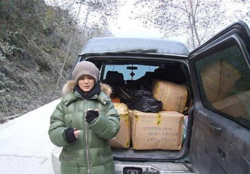 图文:阿娇冬季北川送温暖-阿娇所携带物品