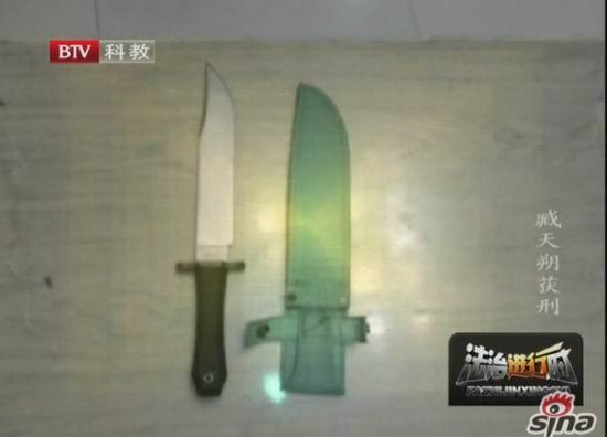 图文:臧天朔庭审-斗殴案使用道具