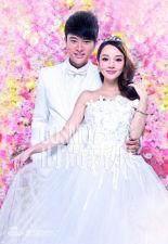 组图:贾乃亮李小璐婚纱大片王子公主浪漫童话