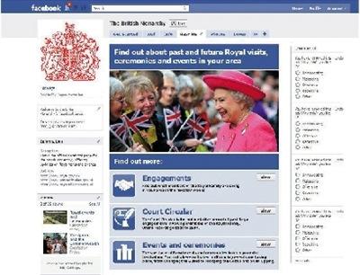 英女王追潮流上Facebook