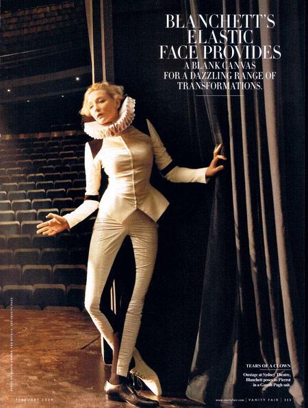 组图:凯特-布兰切特登《名利场》尽显熟女风范