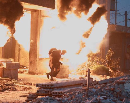 拍摄现场爆炸