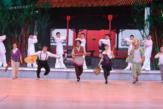 图文:09年央视春节晚会--《功夫世家》表演